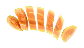 Maradol papaya slices Stock Photography