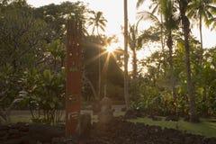Marae Arahurahu, Pa'ea, Tahiti, Polinesia francese Immagini Stock