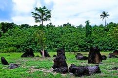 Marae di Paengariki nel cuoco Islands della laguna di Aitutaki Immagine Stock Libera da Diritti