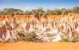 Marafa峡谷-肯尼亚 图库摄影