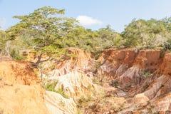 Marafa峡谷-肯尼亚 库存照片