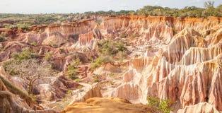 Marafa kanjon - Kenya Royaltyfria Bilder