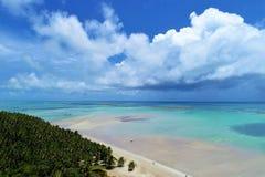 Maragogi-Strand, Alagoas, Brasilien Gro?e Landschaft! lizenzfreies stockbild