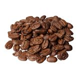 Maragogype Colombia gourmet coffee on white background. High resolution photo Royalty Free Stock Photo