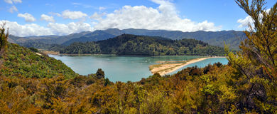 Marahau Lagoon, Abel Tasman National Park, New Zealand stock photography