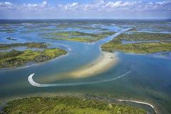 Marais côtier de zone humide. images libres de droits