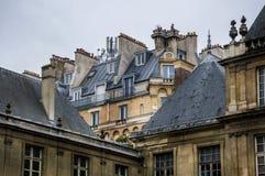 Marais district, Paris. Rooftops in Marais district , Paris, France Stock Photos