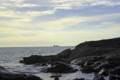 Marak wyspa skały obrazy stock