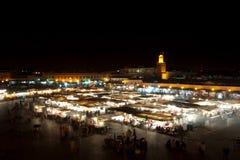 Marakech na noite Imagens de Stock