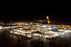 Marakech at night. Marakech city center at night Stock Images