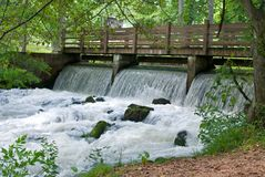 Maramec Springs. These rapids provided the power needed to operate the Maramec Iron Works in Missouri, and the springs are now an official National Park Service Royalty Free Stock Photo