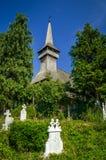 传统木教会在Maramures地区,罗马尼亚 免版税库存照片