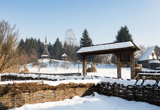 Maramures architectural museum Royalty Free Stock Photography