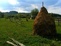 Landscape from Maramures in the north of Romania stock photo