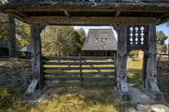 Maramures decorations gate Stock Photo
