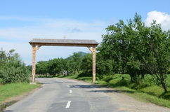 Maramures gate Stock Photo