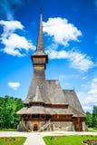 Maramures houten kerk, Transsylvanië, Roemenië Stock Afbeelding