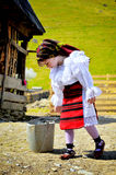 Maramures traditional girl Stock Image