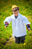 Maramures traditional young boy Royalty Free Stock Image