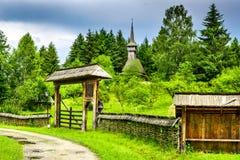 Maramures village, Transylvania, Romania. Sighetu Marmatiei, Romania. Old vilage in Maramures, Romanian traditional architectural style, life in the countryside Stock Photography