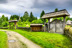 Maramures wioska, Transylvania, Rumunia obraz royalty free