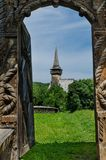 Maramures wooden Gate to church Royalty Free Stock Image