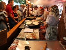 Maramuresan food festival - romanian cuisine. In Bucharest, Romania stock video footage