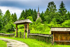 Maramuresdorp, Transsylvanië, Roemenië Stock Fotografie
