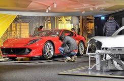 Maranello, Emilia Romagna, Włochy Grudzień 2018 Ferrari muzeum zdjęcie stock