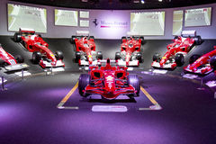 MARANELLO, ITALY - March, 2017. Ferrari Museum exhibition. MARANELLO, ITALY - March, 2017. Ferrari Museum exhibit sport cars, race cars and formula 1 monoposts royalty free stock photography