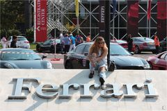 MARANELLO, MODENA, ITALIË, September 2017 - de verjaardag van Ferrari ` s zevende, sportwagen toont Stock Afbeeldingen