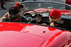 MARANELLO, MODENA, ITALIË, September 2017 - de verjaardag van Ferrari ` s zevende, sportwagen toont Royalty-vrije Stock Afbeelding