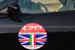 MARANELLO, MODENA, ITALIË, September 2017 - de verjaardag van Ferrari ` s zevende, sportwagen toont Stock Fotografie
