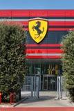 MARANELLO MODENA, ITALIEN, ÅR 2017 - Ferriari fabrik, ingång av den nya industriföretaget Fotografering för Bildbyråer