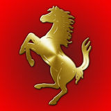 MARANELLO, MODENA, ITALY, YEAR 2017 - Horse symbol of Ferrari cars, ItalyColombia Republic coat of arms. Horse symbol of Ferrari cars, Italy Stock Photos