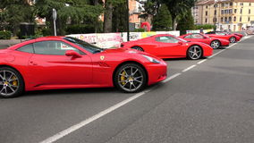 Maranello red night stock video footage