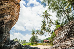 Marang海滩 免版税库存照片
