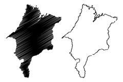 Maranhao mapy wektor ilustracji
