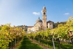 Marano di valpolicella, Italy. The parish church of Marano di Valpolicella in the famous Valpolicella wine region in the Veneto area of northern Italy royalty free stock images