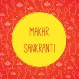 Marar sankranti celebration card with kites Royalty Free Stock Photo