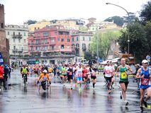 The Mararathon of Rome, March 2014 Royalty Free Stock Images