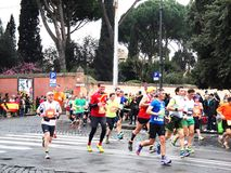The Mararathon of Rome, March 2014, 11 th km Royalty Free Stock Photos