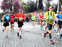 The Mararathon of Rome, March 2014, 11 th km Royalty Free Stock Photography