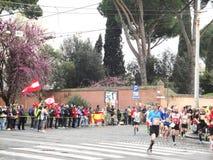 Mararathon van Rome, Maart 2014, 11de km Stock Fotografie
