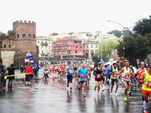 Mararathon van Rome, 23 Th Maart 2014, Italië Royalty-vrije Stock Foto