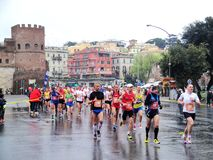 Mararathon van Rome, 23 Th Maart 2014, Italië royalty-vrije stock fotografie