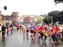 Mararathon van Rome, 23 Th Maart 2014, Italië stock foto