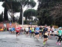 Mararathonen av Rome, mars 2014, 11 th km Royaltyfri Fotografi