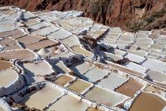 Maras盐矿,秘鲁 免版税库存图片
