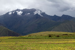 Maras, peru. The countryside in the maras twon Royalty Free Stock Photos